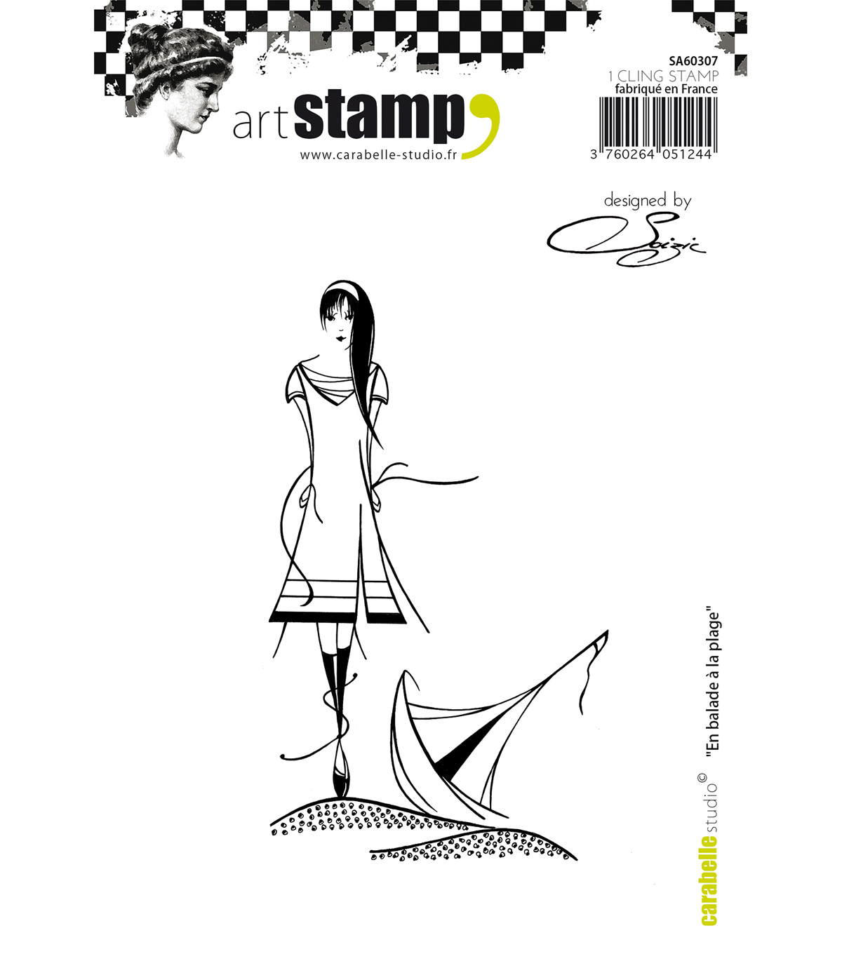 Carabelle Studio Cling Stamp A6 By Soizic-Walking To The Beach