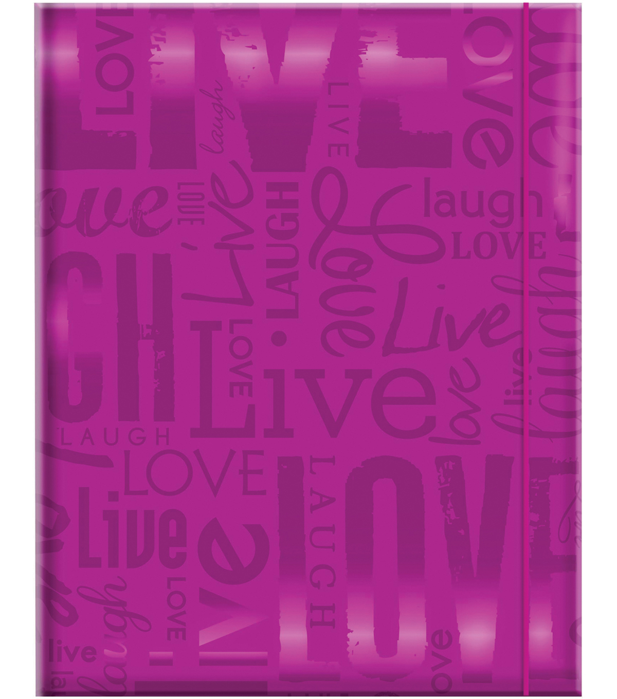 MBI Embossed Gloss Expressions Photo Album-Purple Live, Love & Laugh