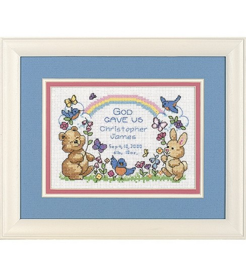 Bucilla Mini Counted Cross Stitch Kit God\u0027s Babies