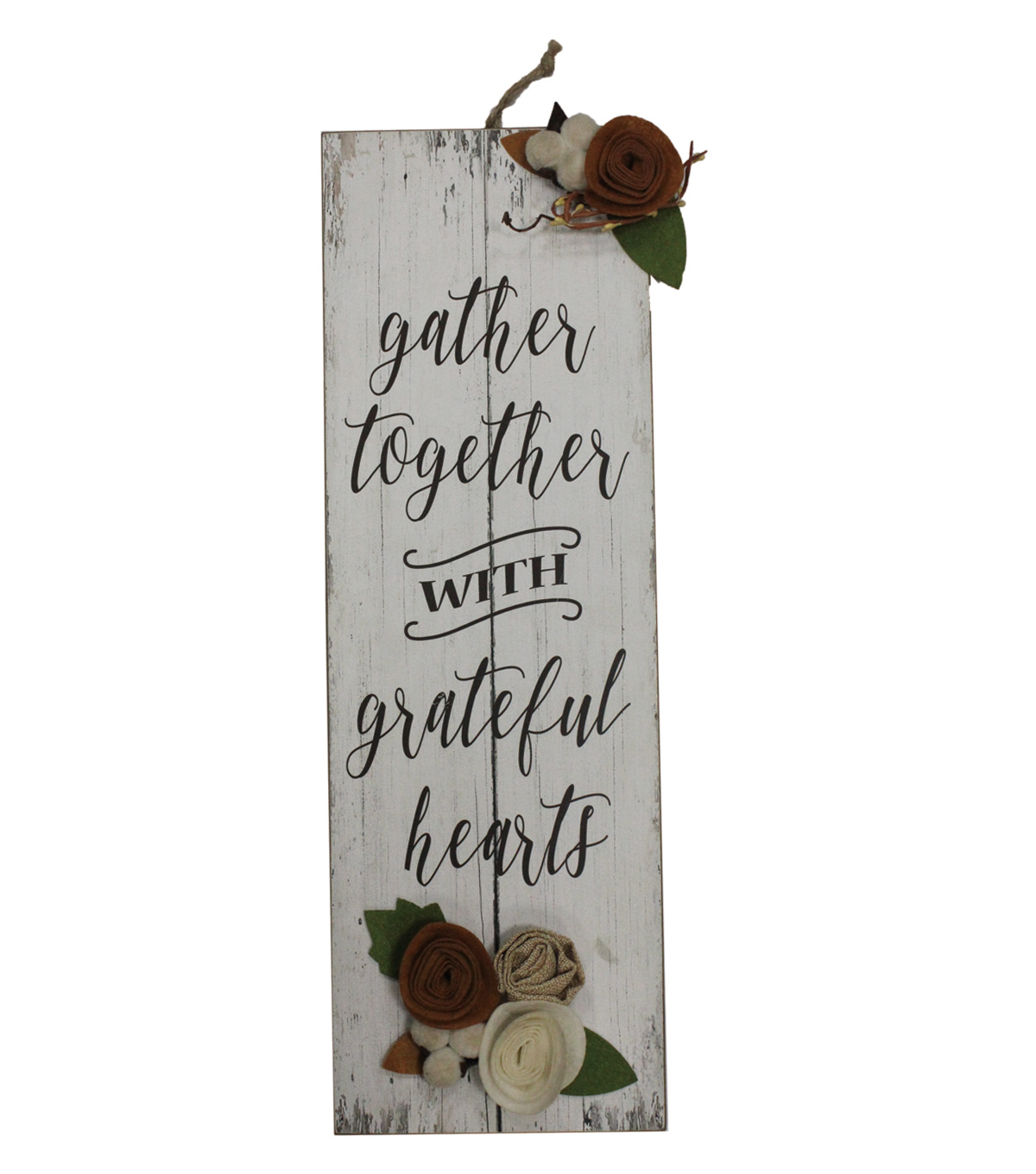 Simply Autumn Wall Decor with Felt Flowers-Gather Together