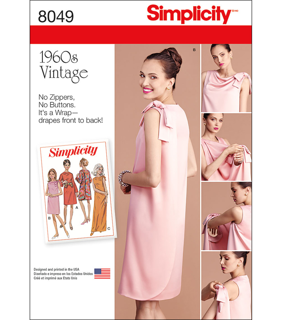 Simplicity Misses\u0027 Vintage 1960\u0027S Three Armhole Dress-8-10-12-14-16