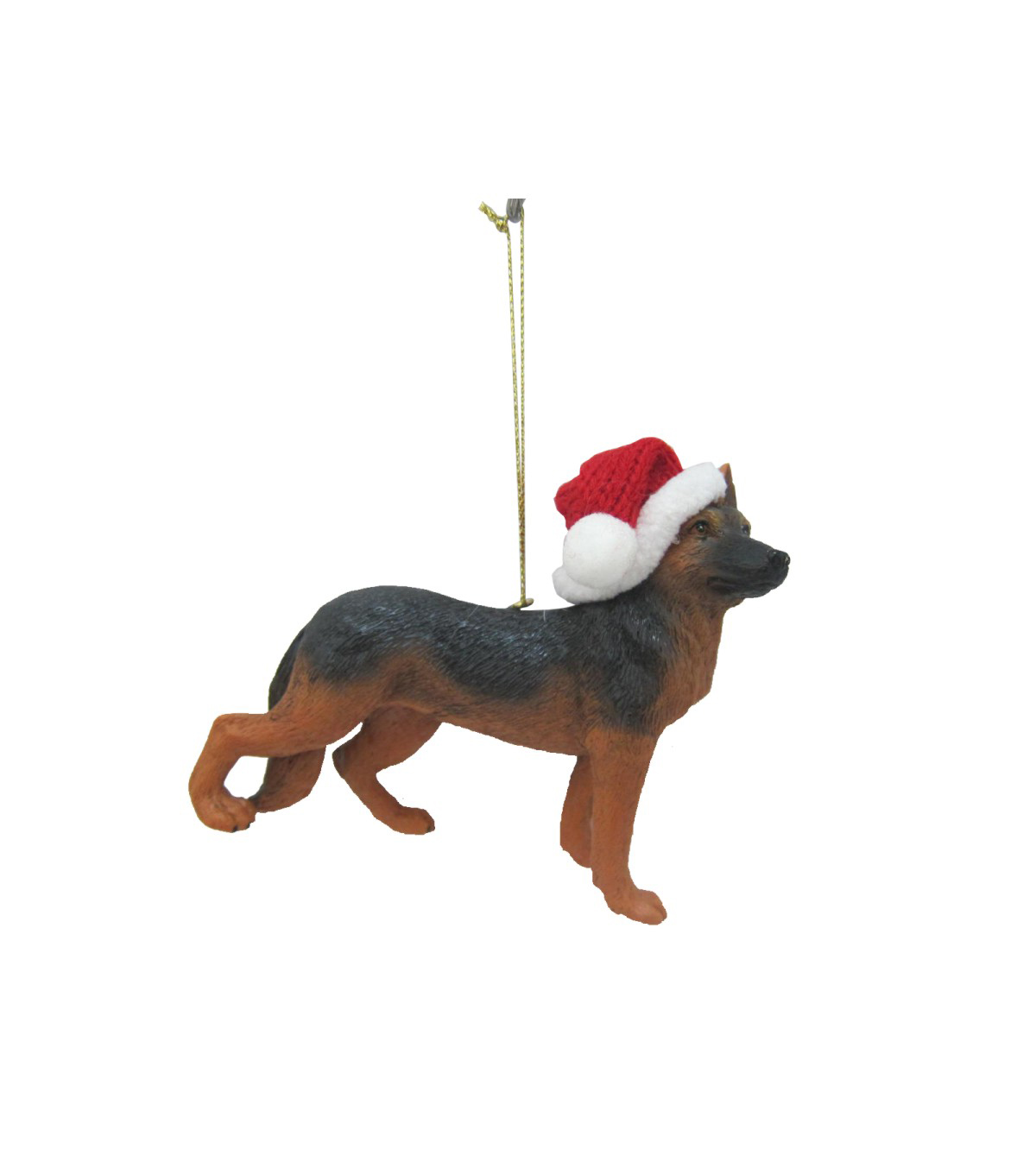 Maker\u0027s Holiday Christmas German Shepard with Hat Ornament
