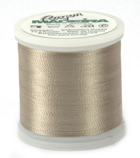 Madeira Rayon Thread Refills Beige/Olive Green