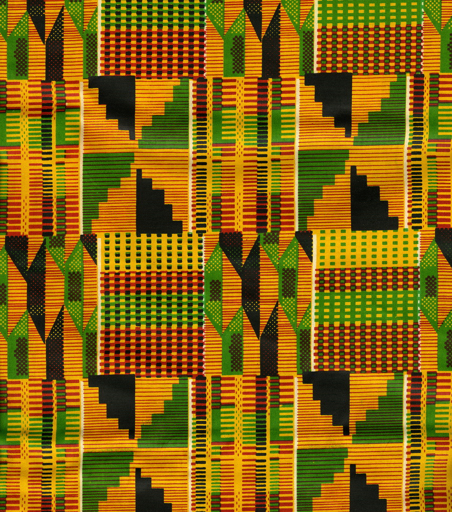 Ethnic Cloth Fabric African Kente