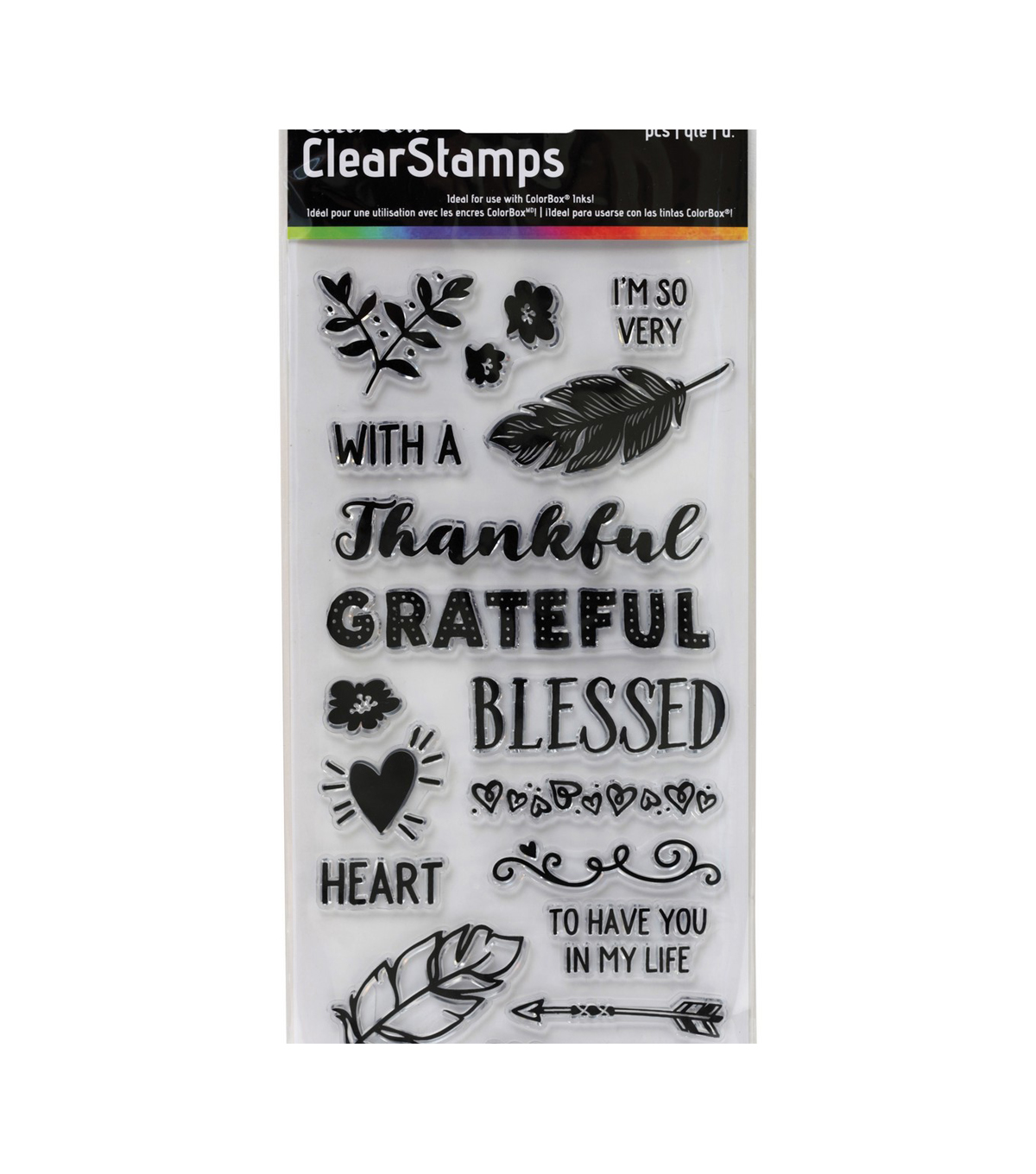 Colorbox Clear Stamps-Thankful