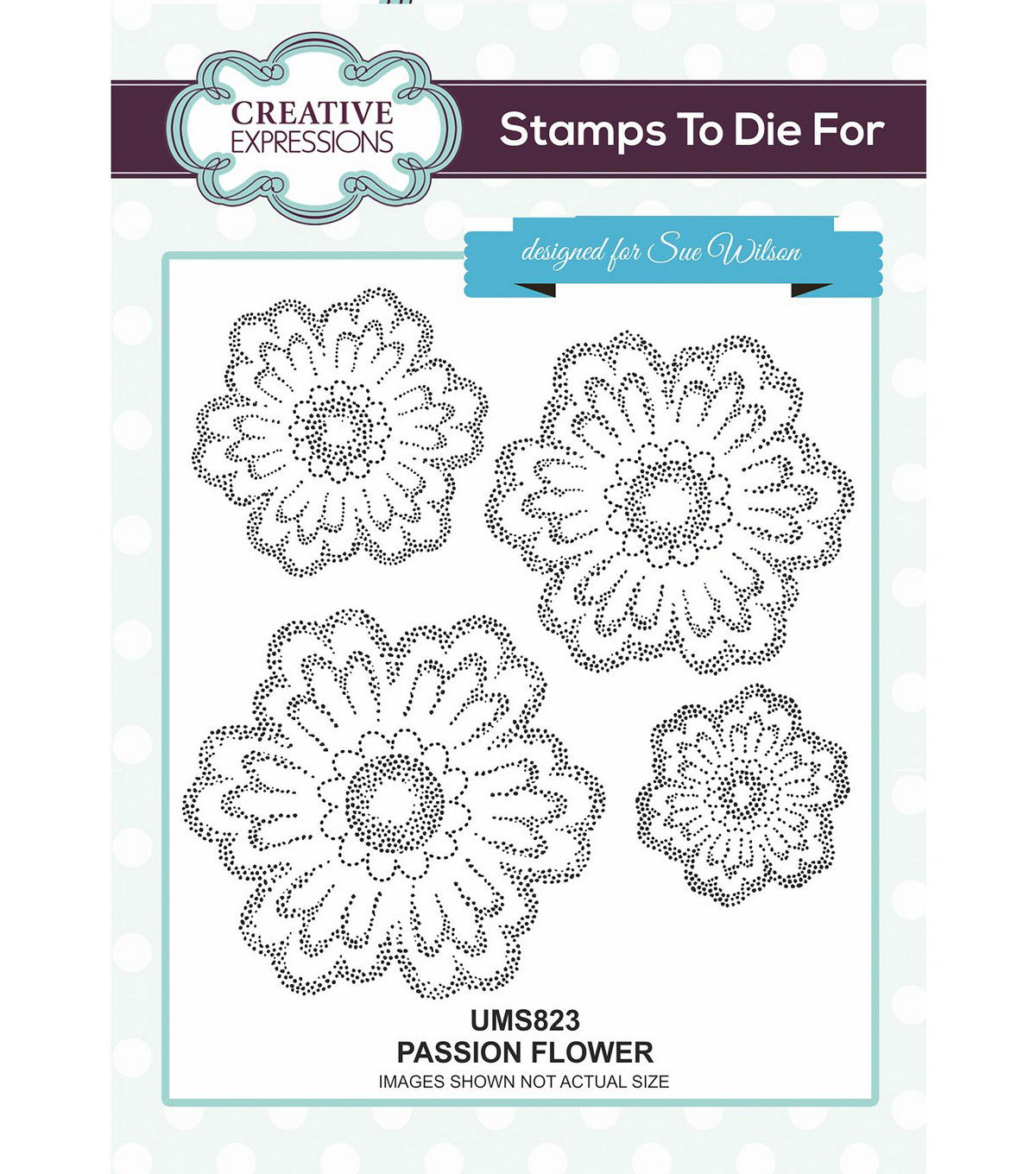 Creative Expressions Stamps To Die For 4 pk Stamps-Passion Flower