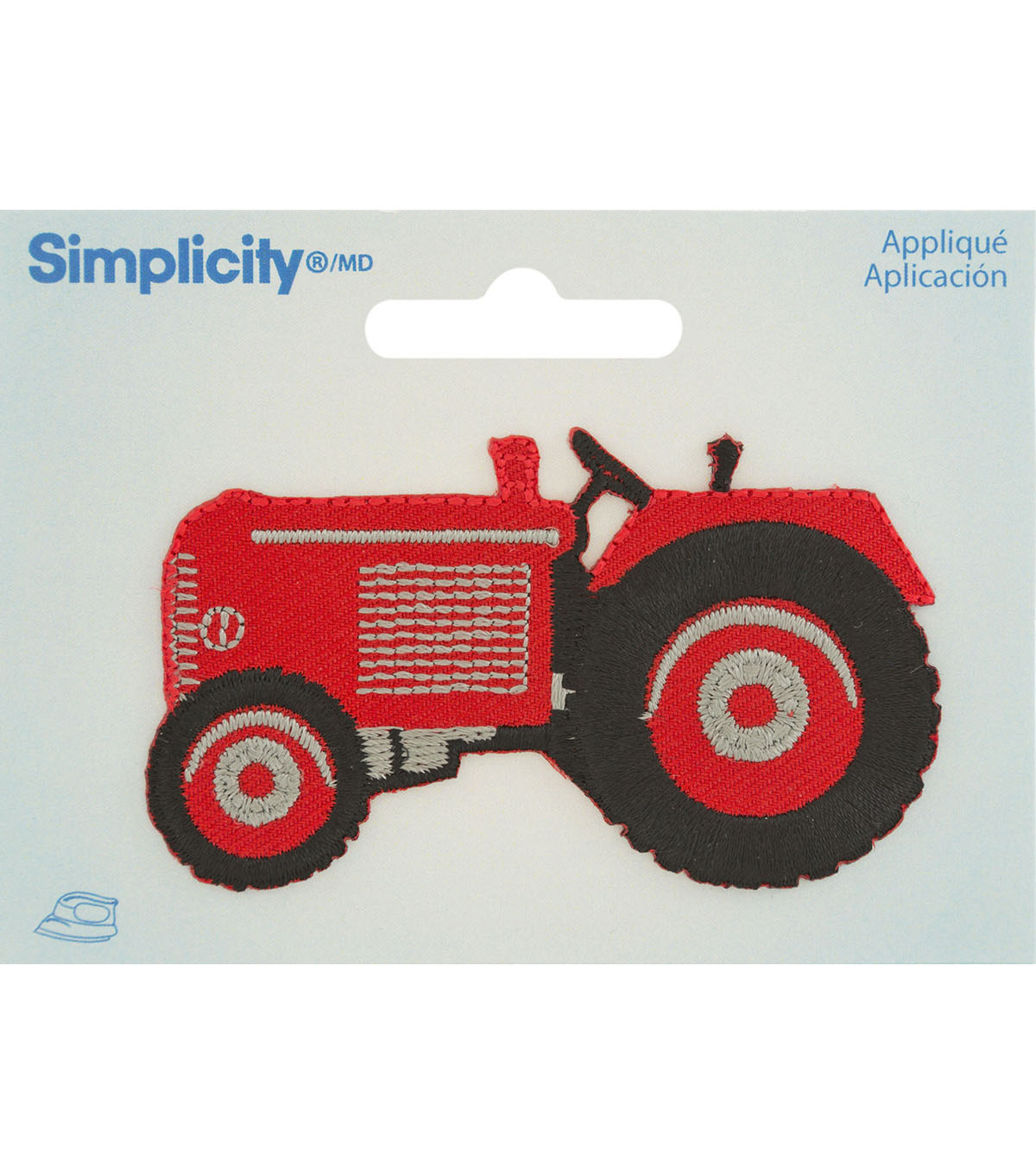 Simplicity Iron-On Applique-Red Tractor