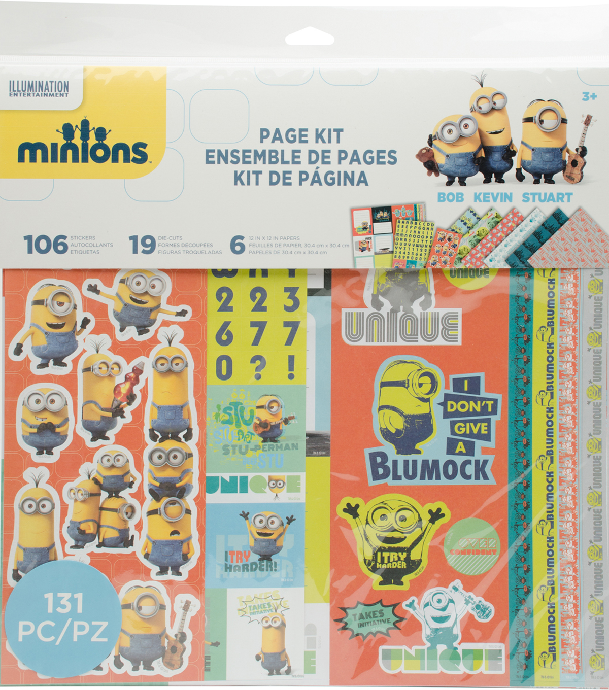 EK Success Minions 12\u0027\u0027x12\u0027\u0027 Page Kit