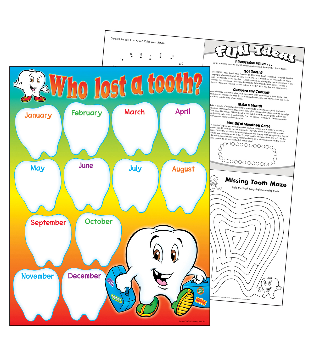Who Lost a Tooth? Learning Chart 17\u0022x22\u0022 6pk