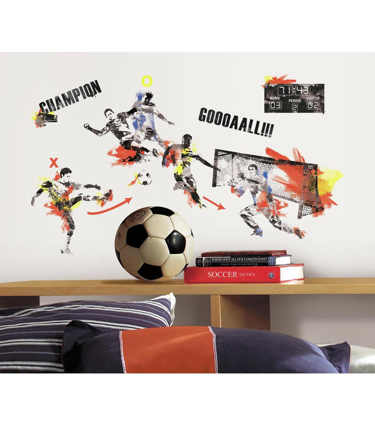 York Wallcoverings Wall Decals-Men\u0027s Soccer Champion