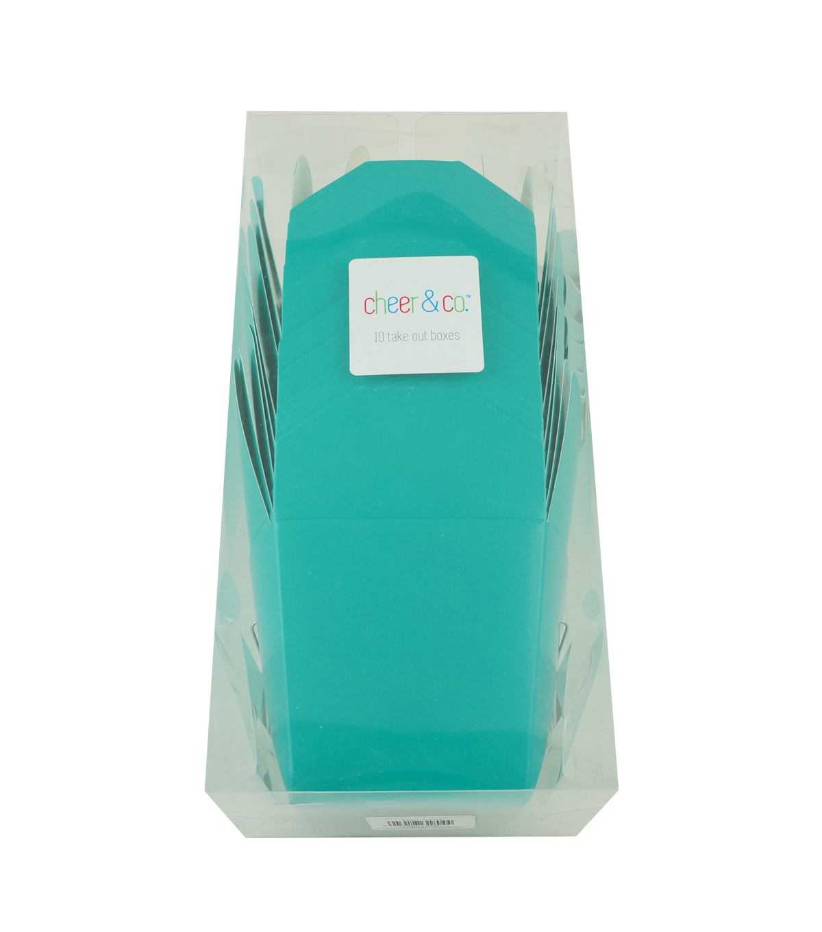 Cheer & Co 10ct Take Out Boxes-Teal
