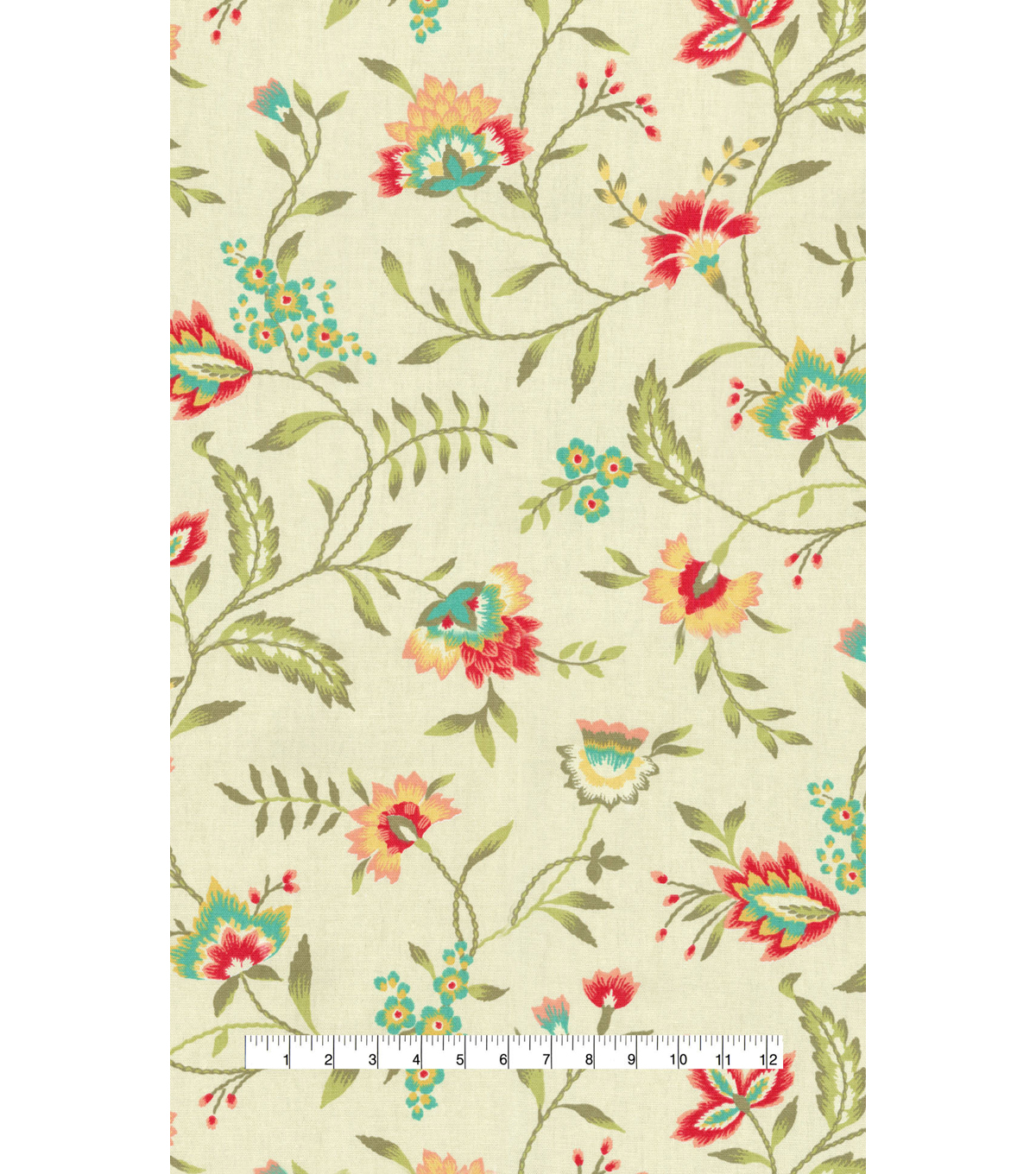 Waverly Upholstery Fabric 54\u0022-Carolina Crewel Bloom