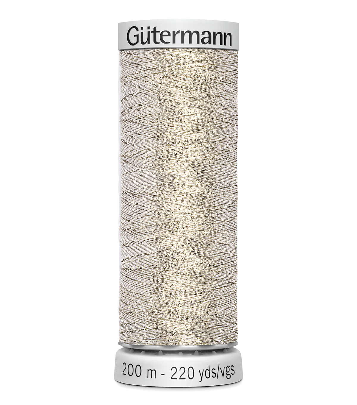 Gutermann 200M Dekor Thread, 200m Dekor Metallic-silver