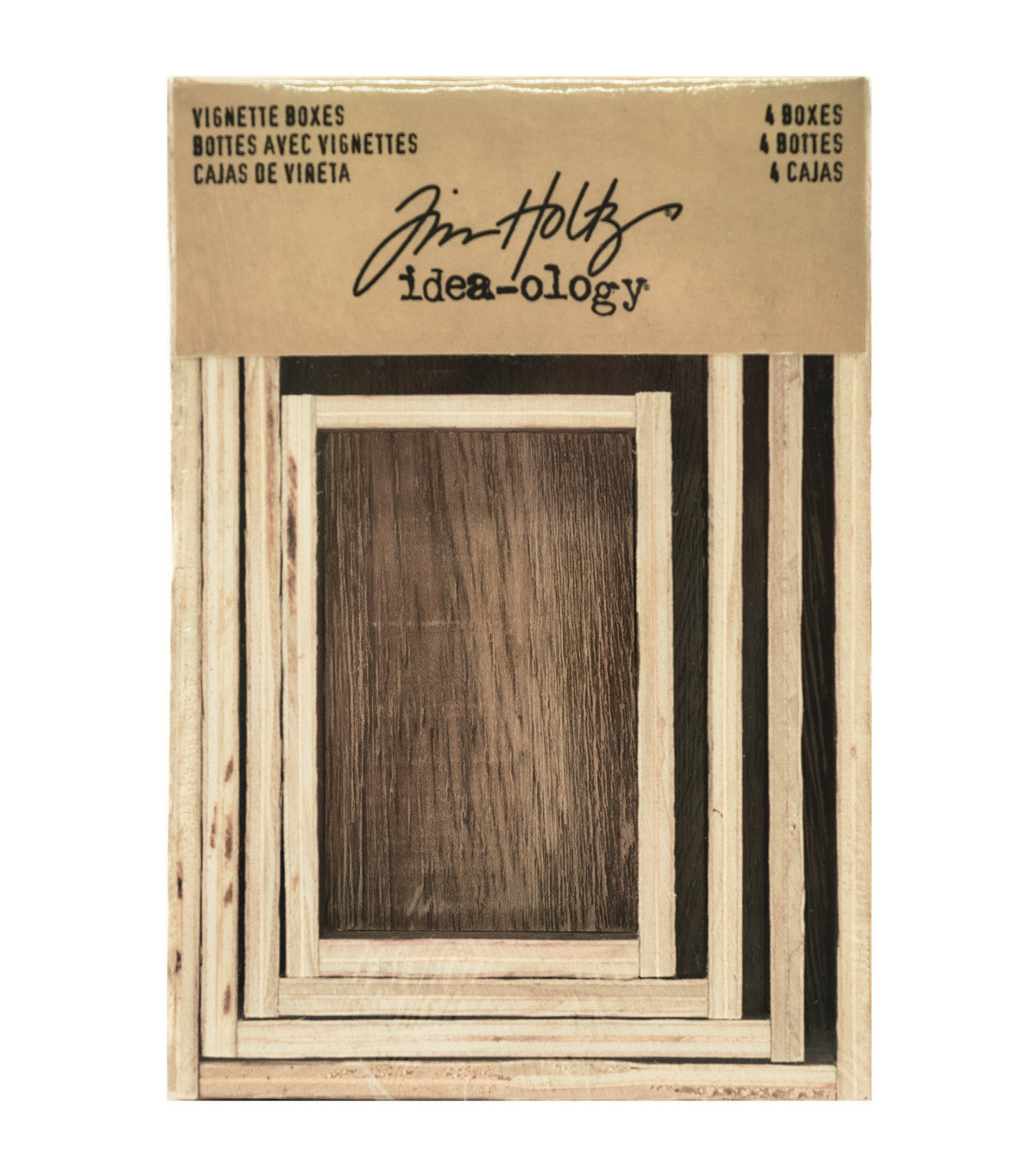 Tim Holtz Idea-ology Vignette Boxes-Brown
