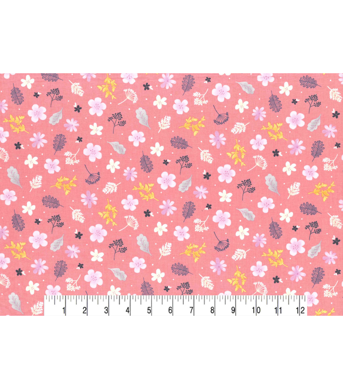 Premium Cotton Fabric 43\u0027\u0027-Astrid Garden Tossed on Pink