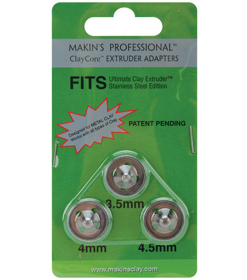 Makin\u0027s Clay Professional ClayCore Extruder Adapters-3.5mm, 4mm & 5mm