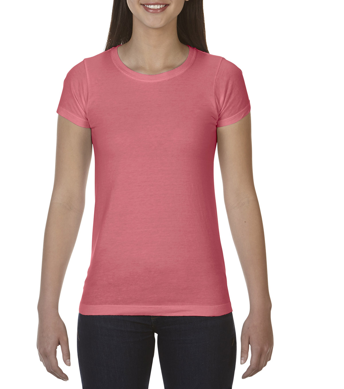 Comfort Colors Large Ladies T-Shirt, Watermeon