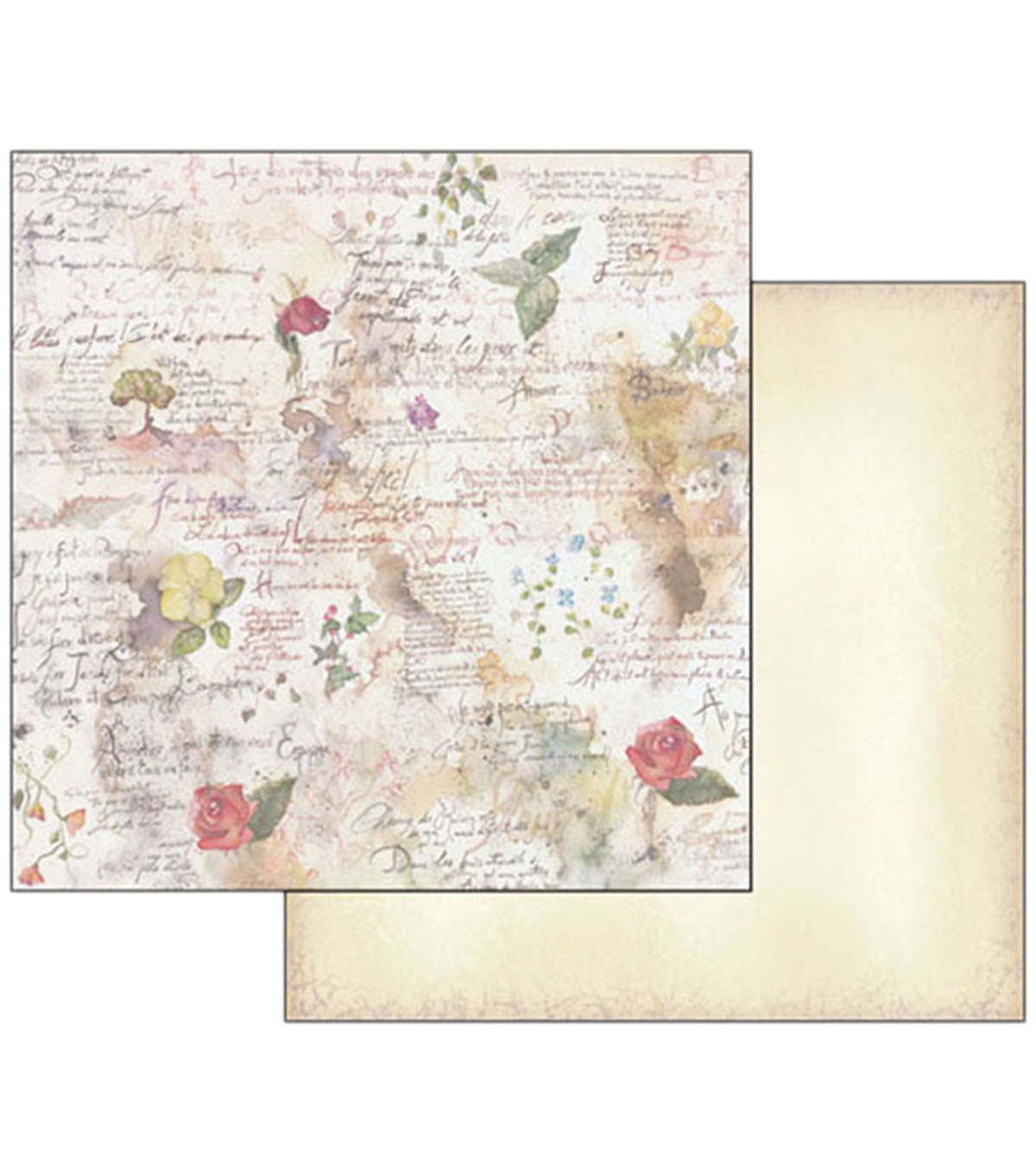 Stamperia 10 pk 12\u0027\u0027x12\u0027\u0027 Double-Sided Cardstock-Flowers & Poetry