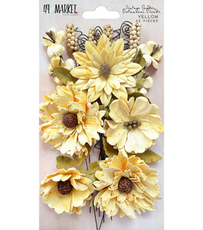 49 And Market Vintage Shades Botanical Blends 23 pk Flowers-Yellow