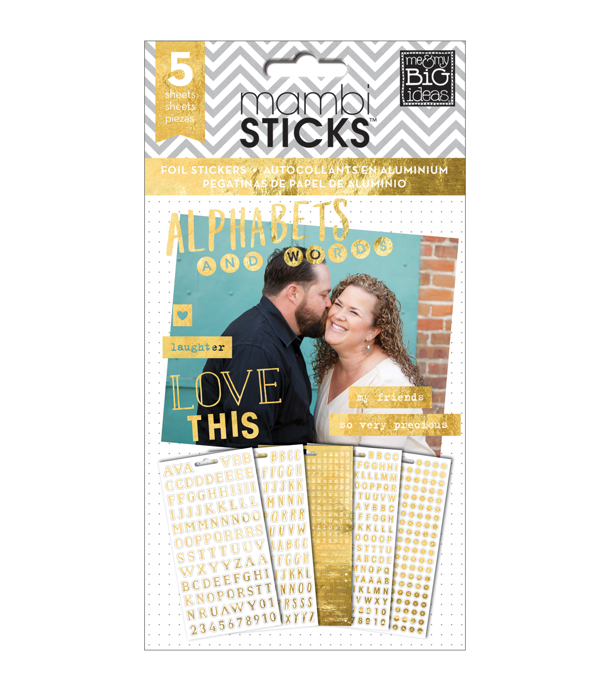 Me & My Big Ideas Hey Girl Alpha Words Clear Stickers