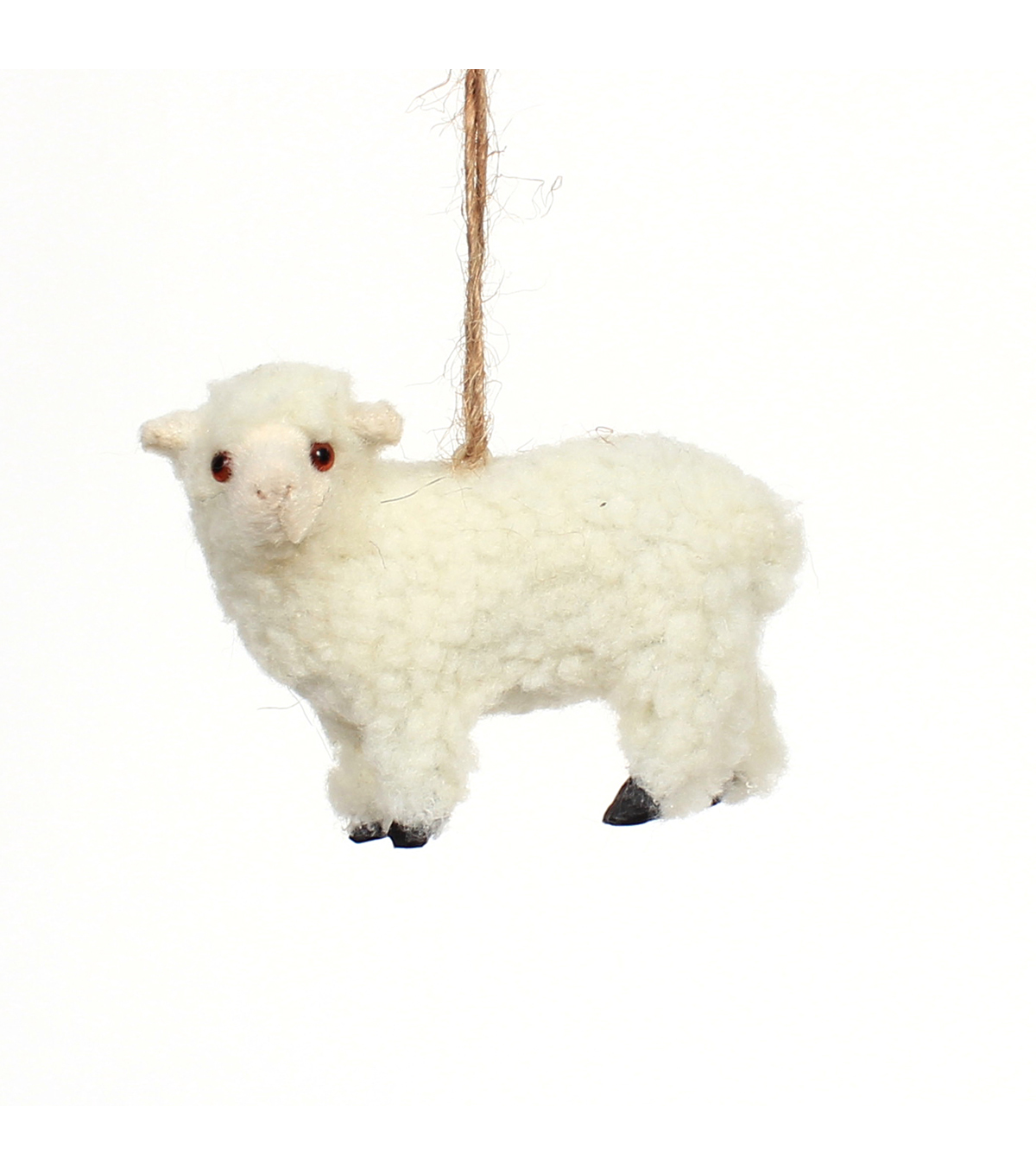 Maker\u0027s Holiday Christmas Furry Baby Lamb Ornament