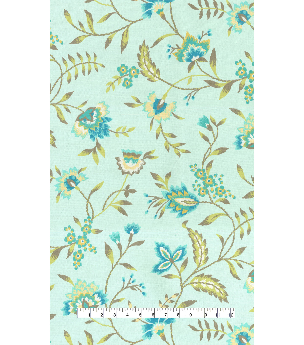 Waverly Upholstery Fabric 54\u0022-Carolina Crewel Mist