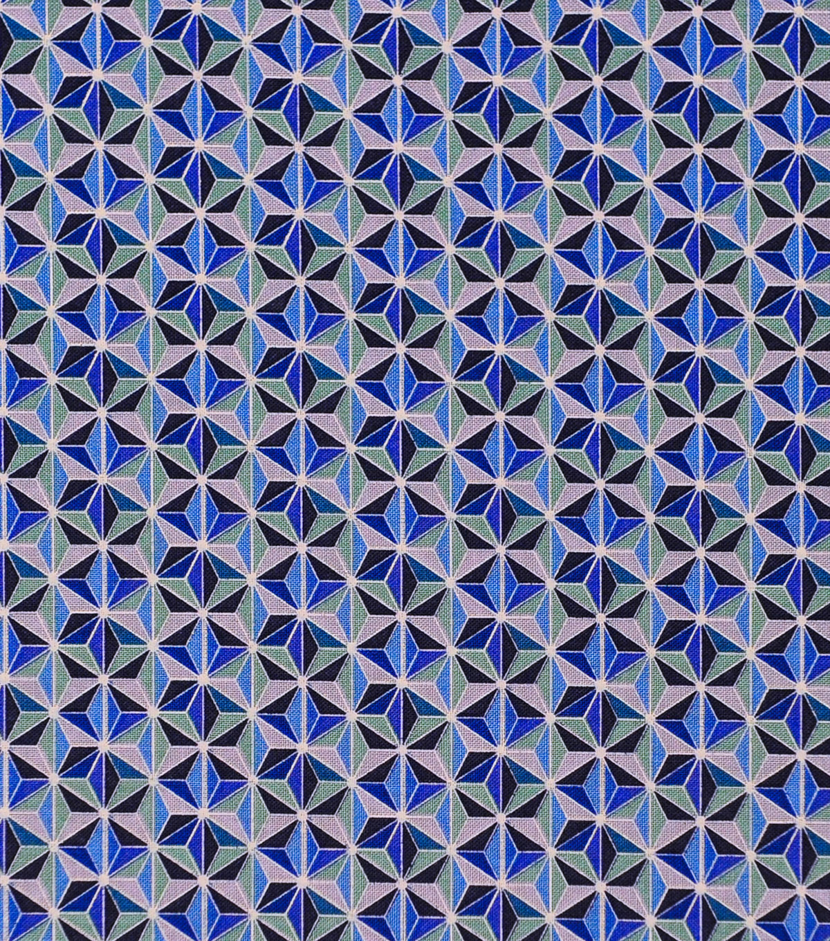 Keepsake Calico Cotton Fabric-Faceted Geo Blue
