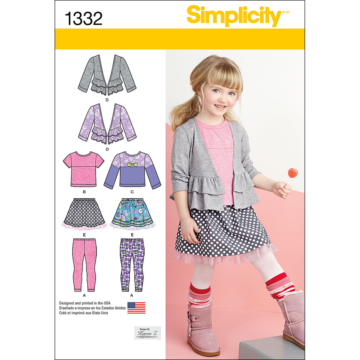 Simplicity Pattern 1332A 3-4-5-6-7--Child Sportswear
