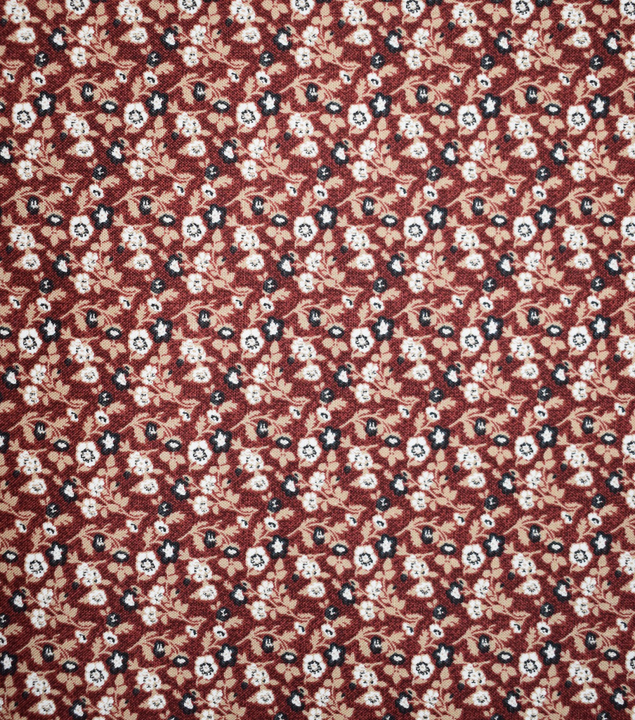 Premium Quilt Cotton Fabric-Ditsy Floral On Red 2