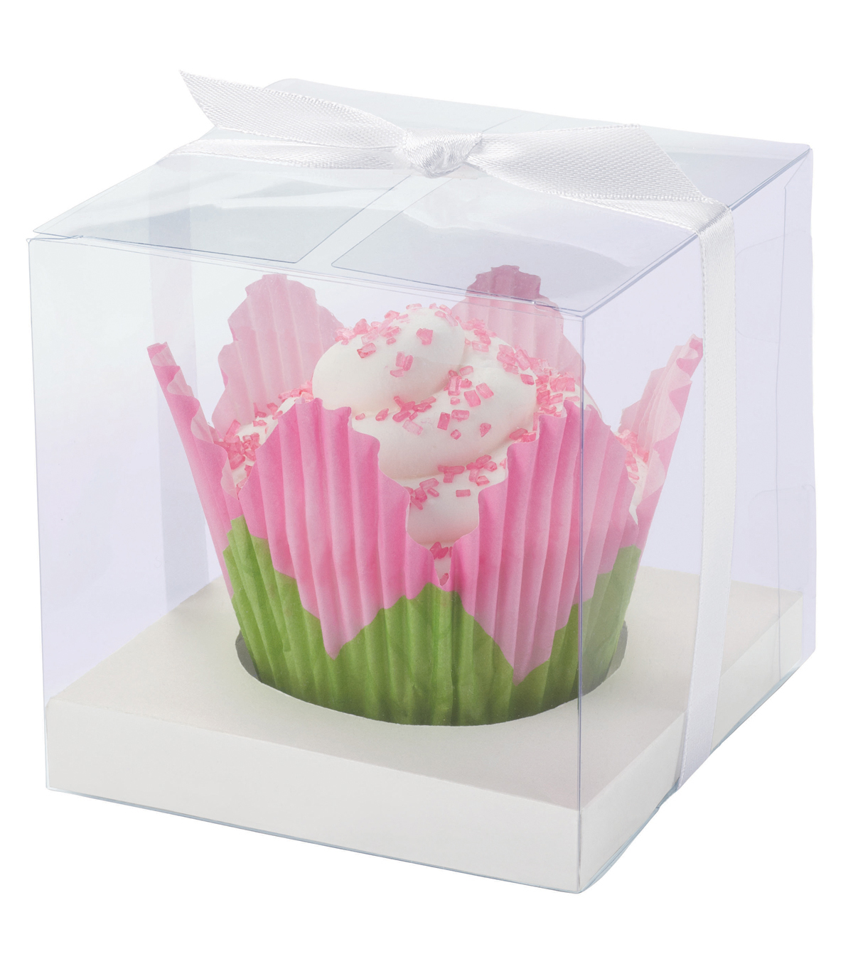 Cupcake Box 20/Pkg-Clear and White