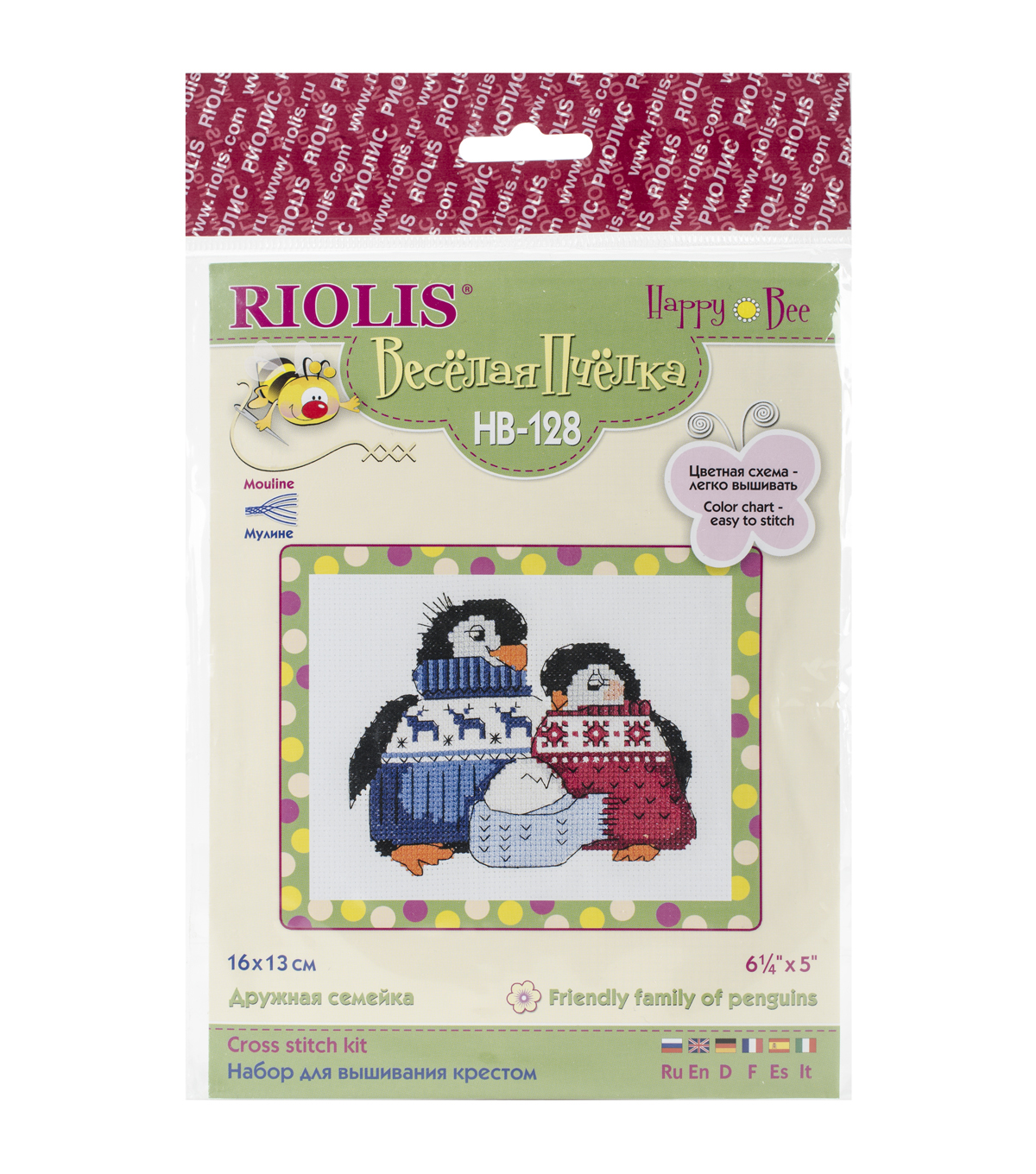 Riolis 6.25\u0027\u0027x5\u0027\u0027 Counted Cross Stitch Kit-Friendly Family