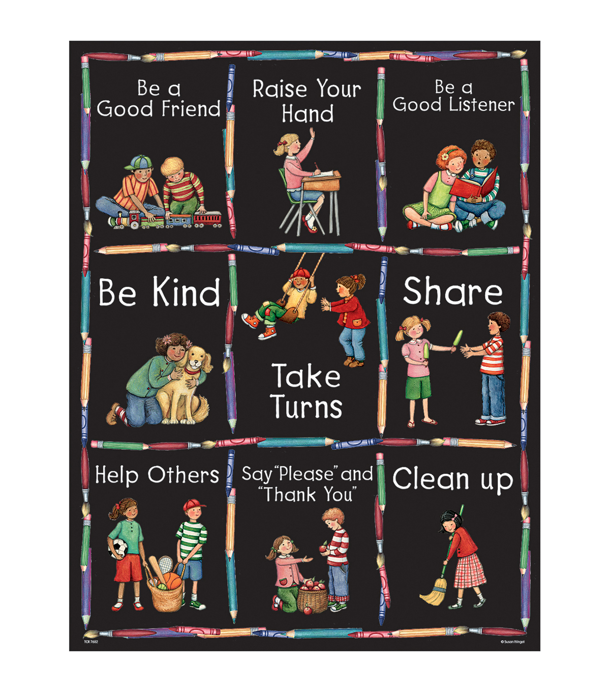 Teacher Created Resources Manners Chart from Susan Winget 6pk