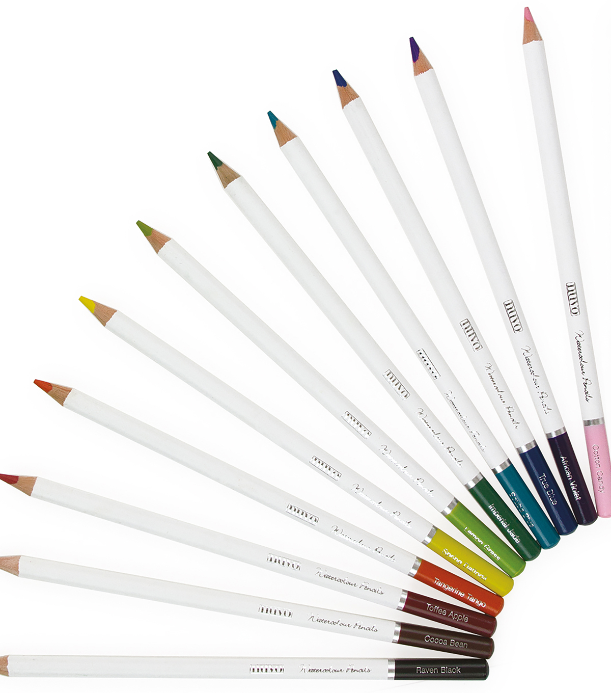 Nuvo 12 pk Watercolor Pencils-Brilliantly Vibrant