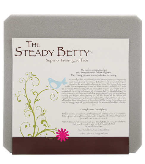 Steady Betty Pressing Surface-12\u0022X12\u0022 Gray