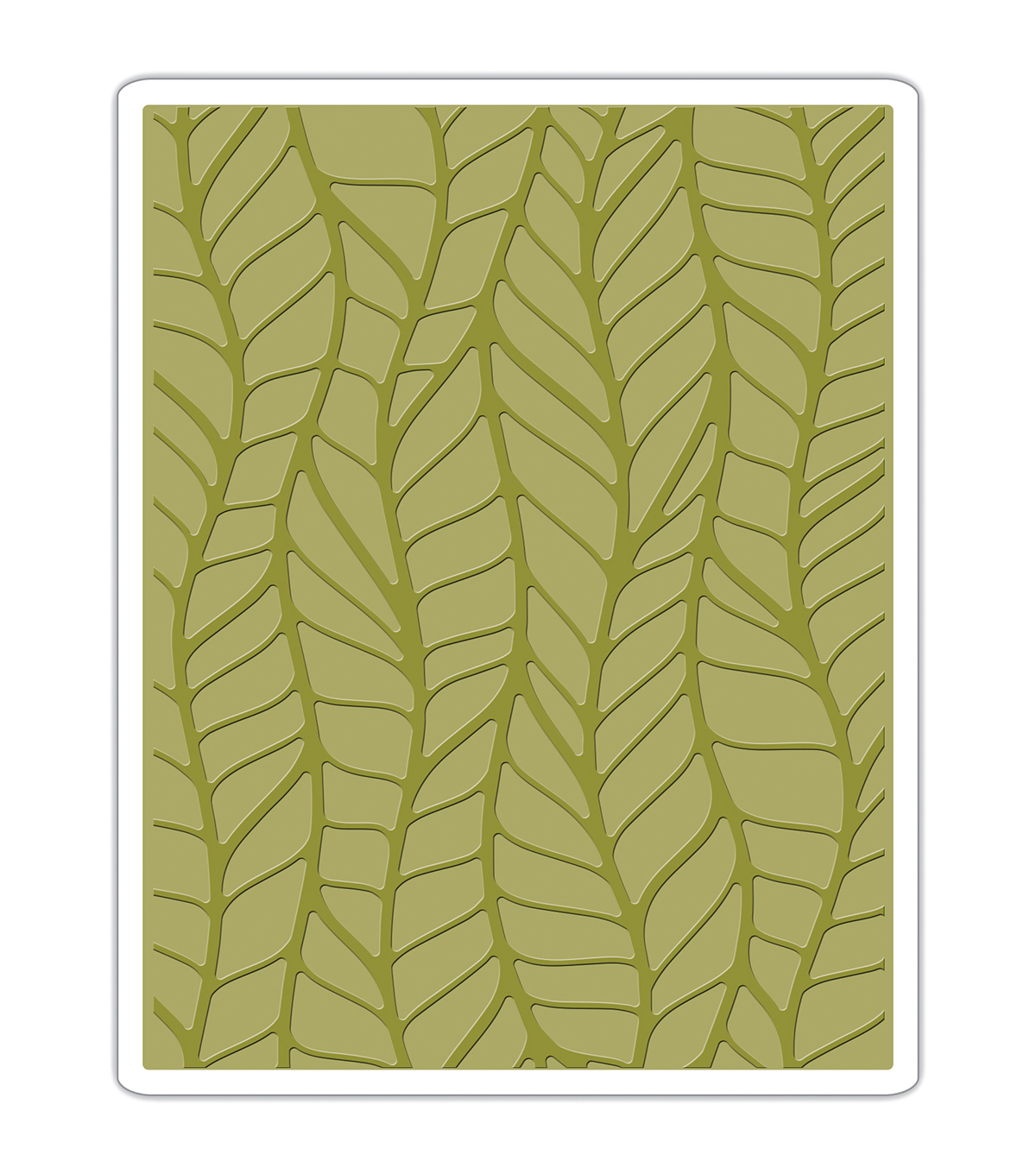 Sizzix Texture Fades Tim Holtz Embossing Folder-Leafy