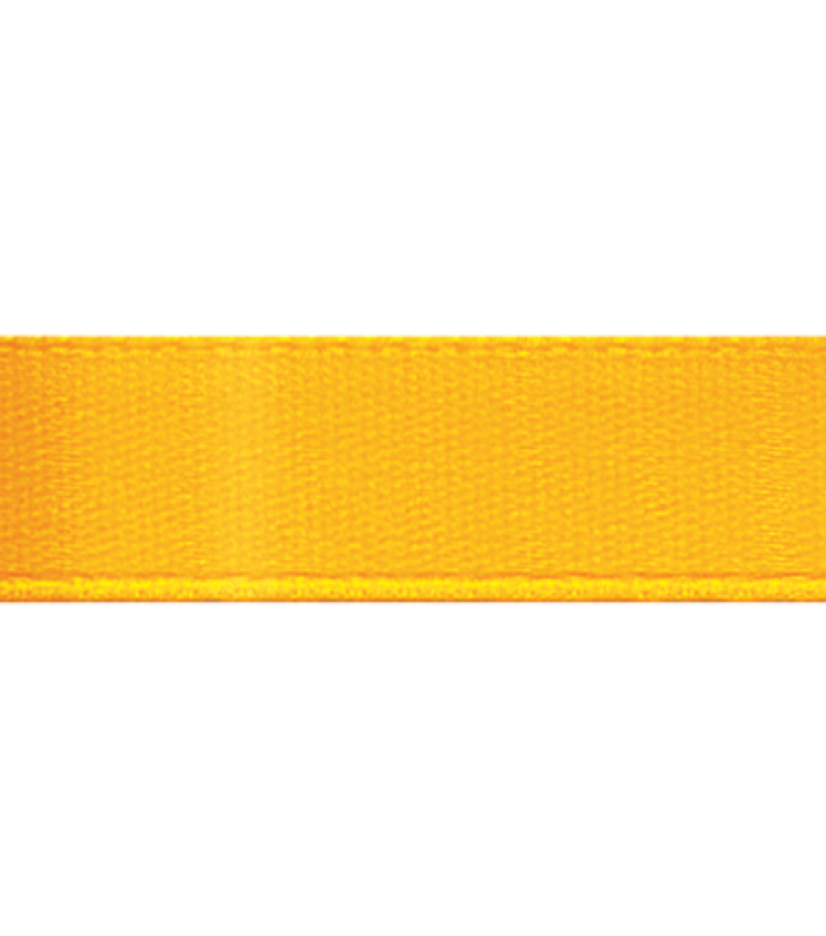 Offray Single Face Satin Ribbon 5/8\u0022-20 Yds, Yellow Gold