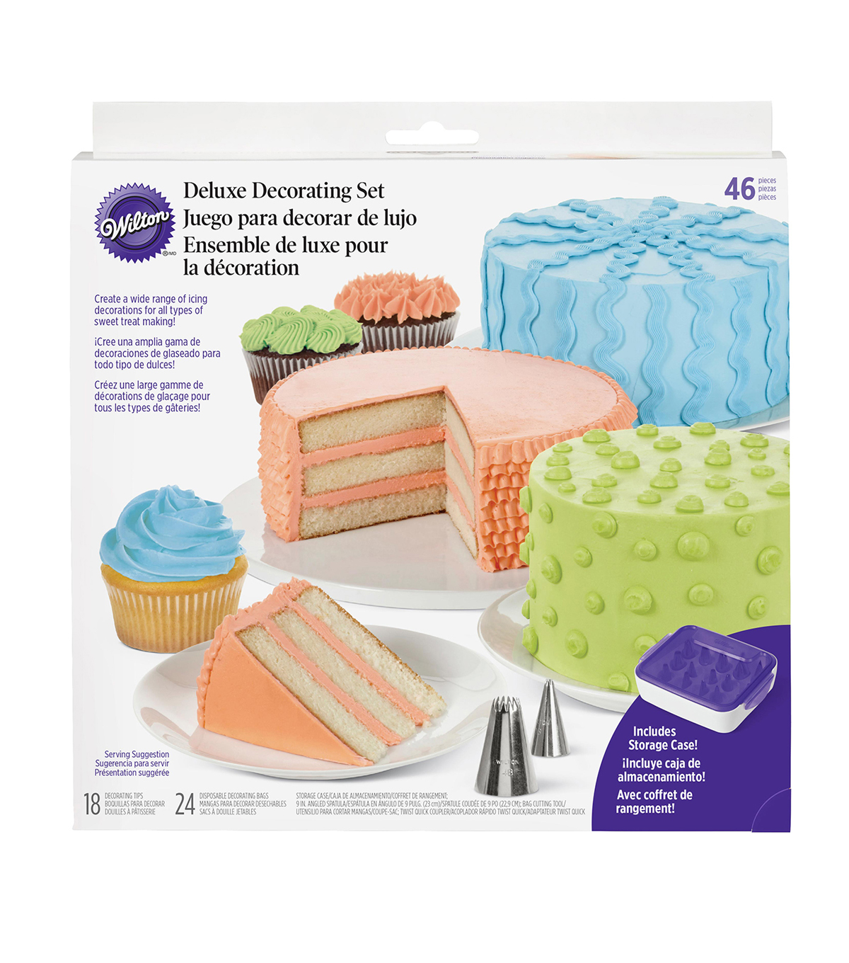 Wilton Deluxe Decorating Tip Set, 46-Piece