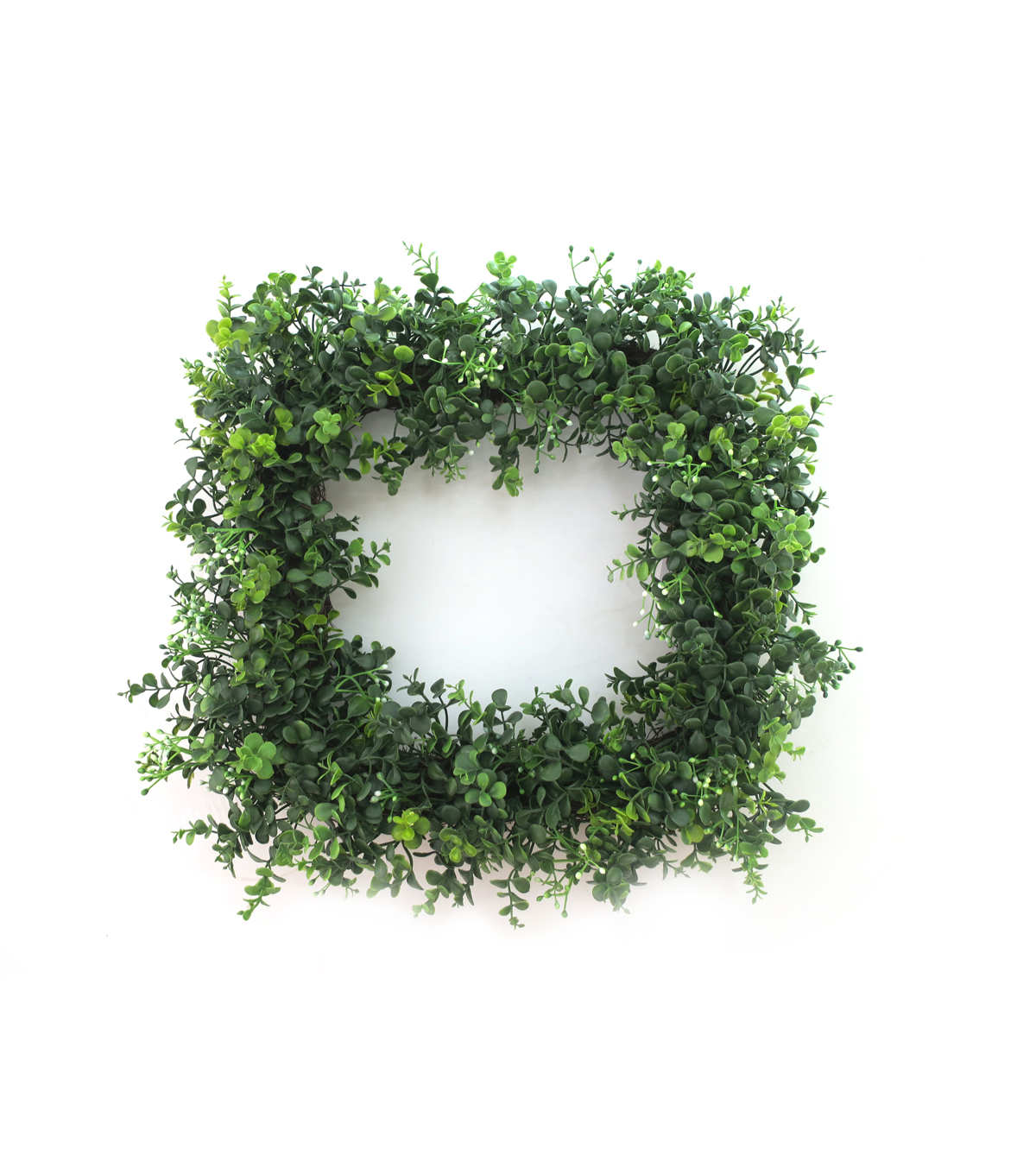 Fresh Picked Spring 18.5\u0027\u0027 Square Boxwood Wreath