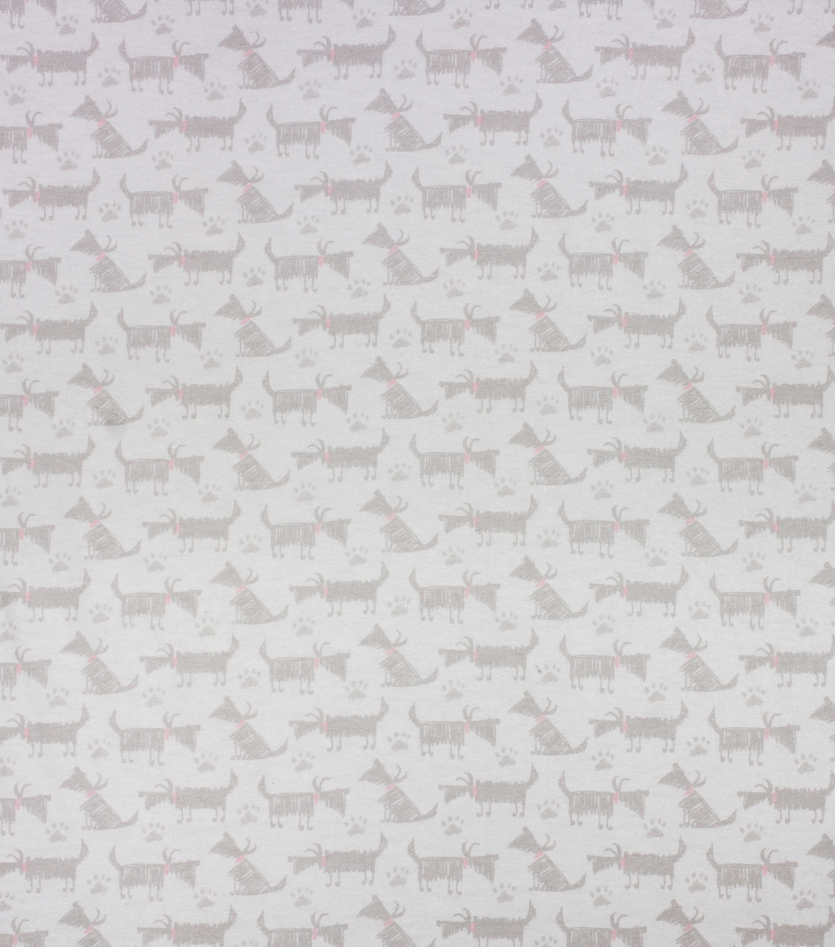 Super Snuggle Flannel Fabric-Sketch Dog Gray