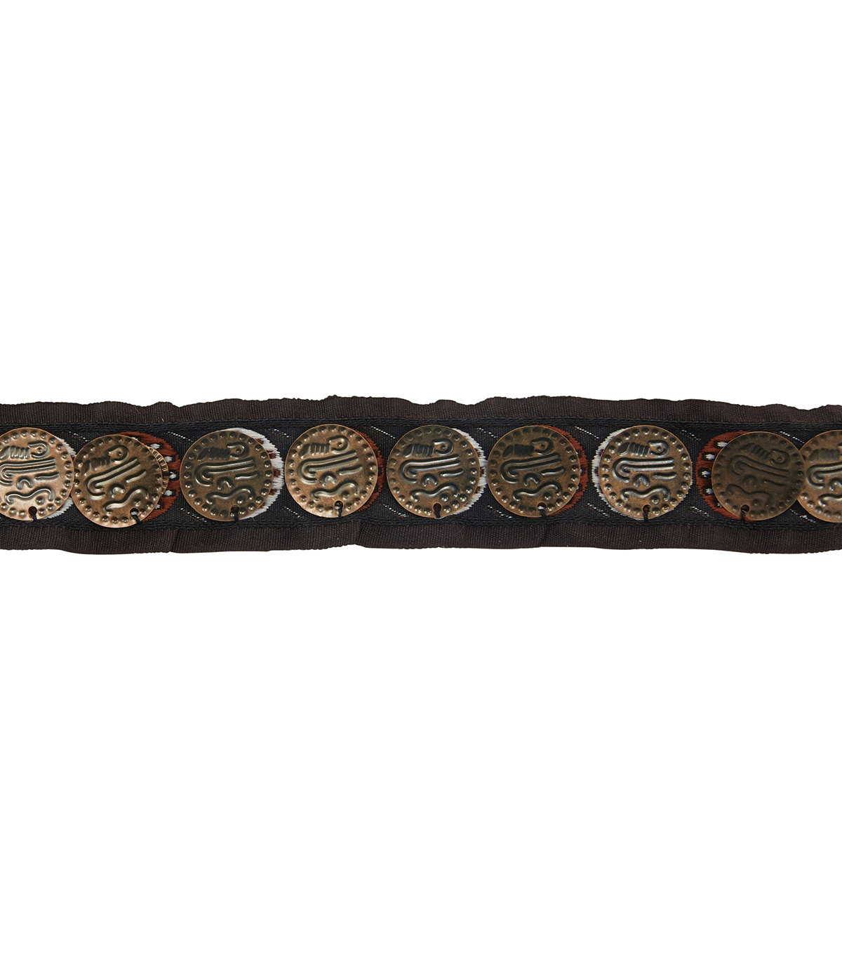 Yaya Han Collection Black/Red Tribal Coin Trim