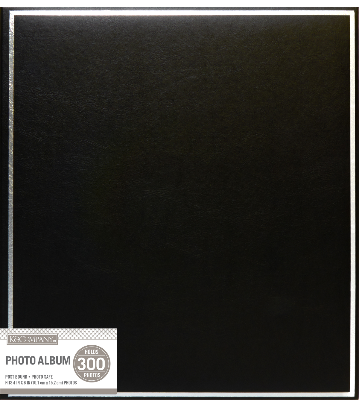 K&Company Black Library 5 Up Post Bound Photo Album