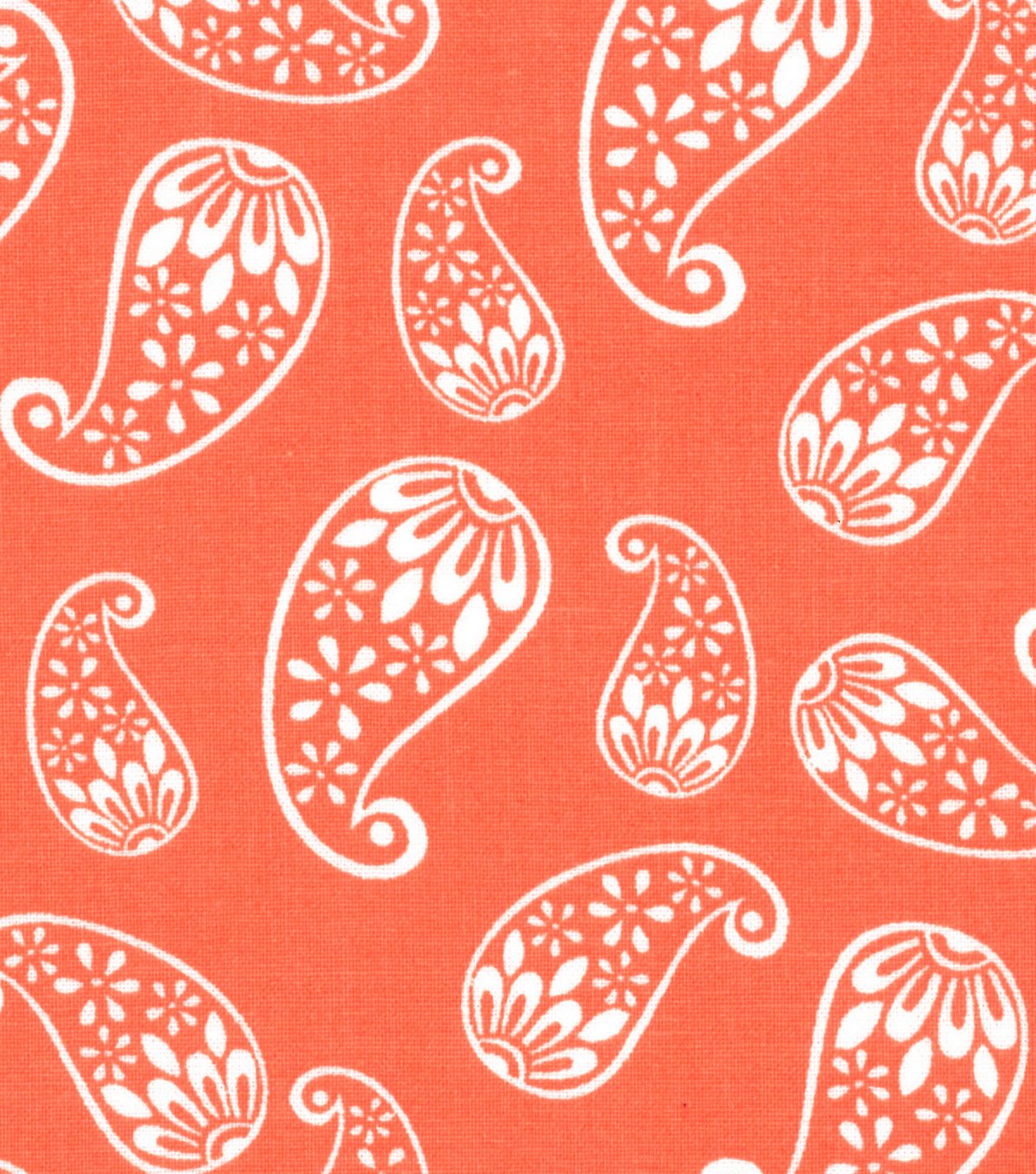 Quilter\u0027s Showcase Cotton Fabric 44\u0022-Floral Paisley Coral
