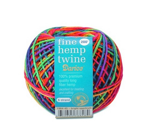 6 Strand Fine Hemp Twine Bright X200 Ft.