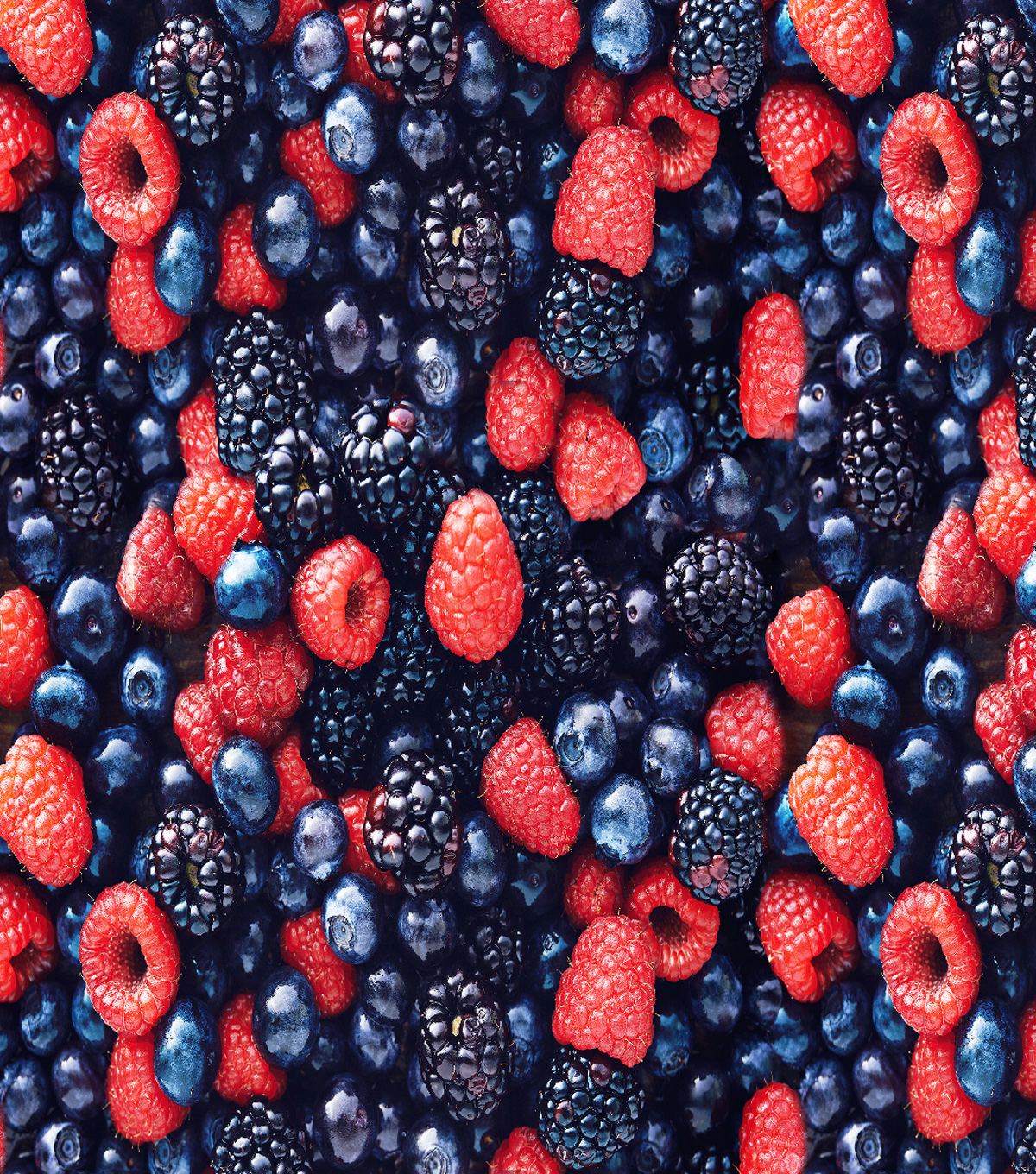 Novelty Cotton Fabric -Photoreal Mixed Berries