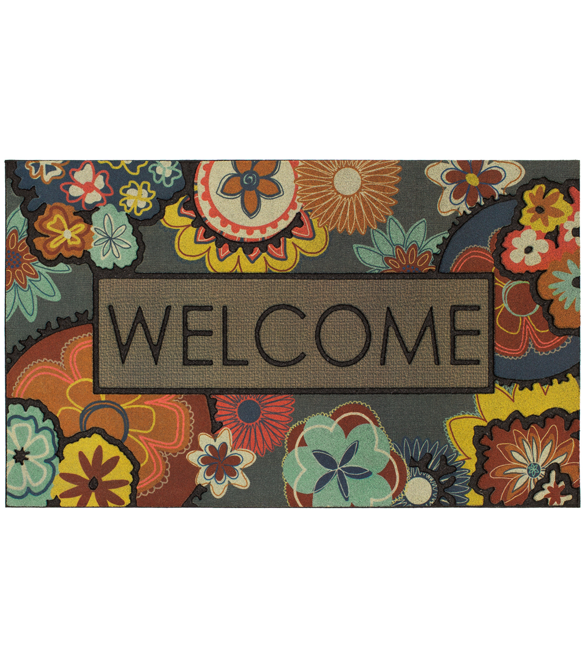 Mohawk Homes Doormat-Flowers of Youth & Ethereal Welcome