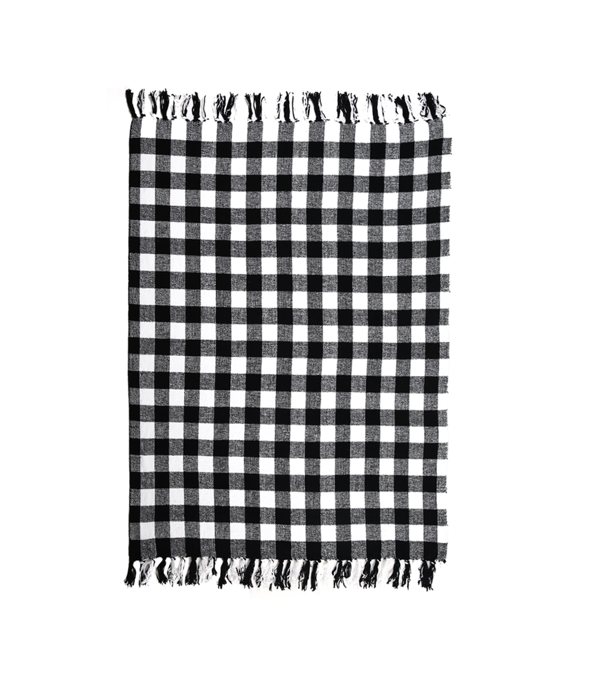 Maker\u0027s Holiday Christmas Throw-Black & White Plaid