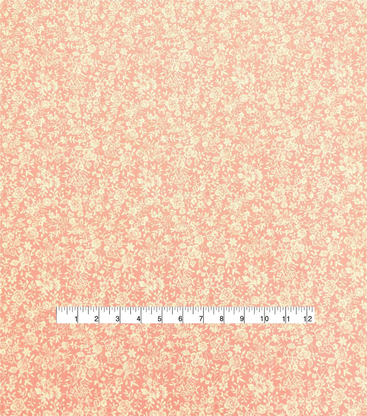 Silky Stretch Chiffon Fabric 57\u0022-Peach Ditsy