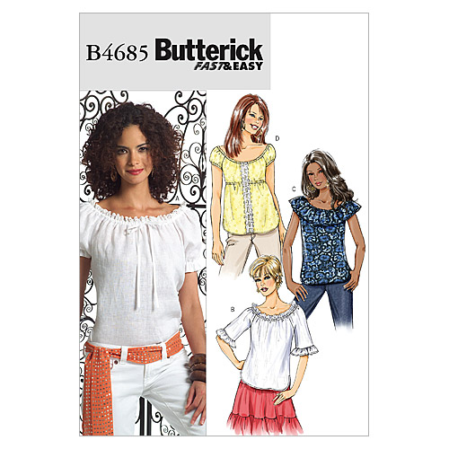 Butterick Misses Top-B4685