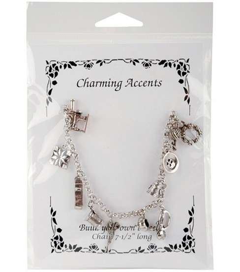 Charm Bracelet-Sewing 7-1/2\u0027\u0027 Long