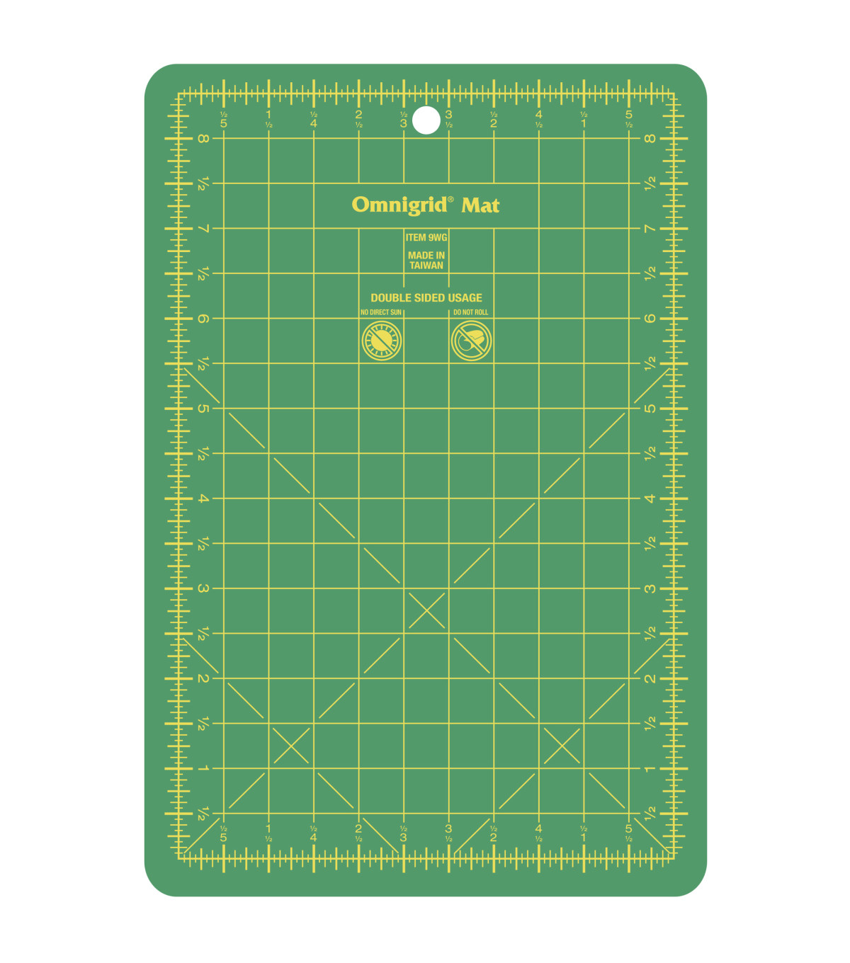 Omnigrid 5.5\u0027\u0027x8.5\u0027\u0027 Double-sided Cutting Mat with Grids